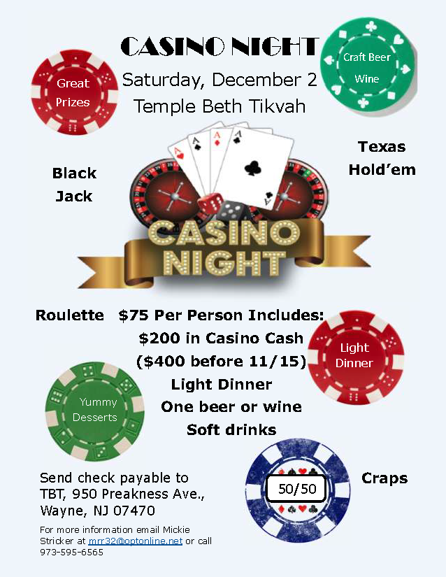 Casino night updated