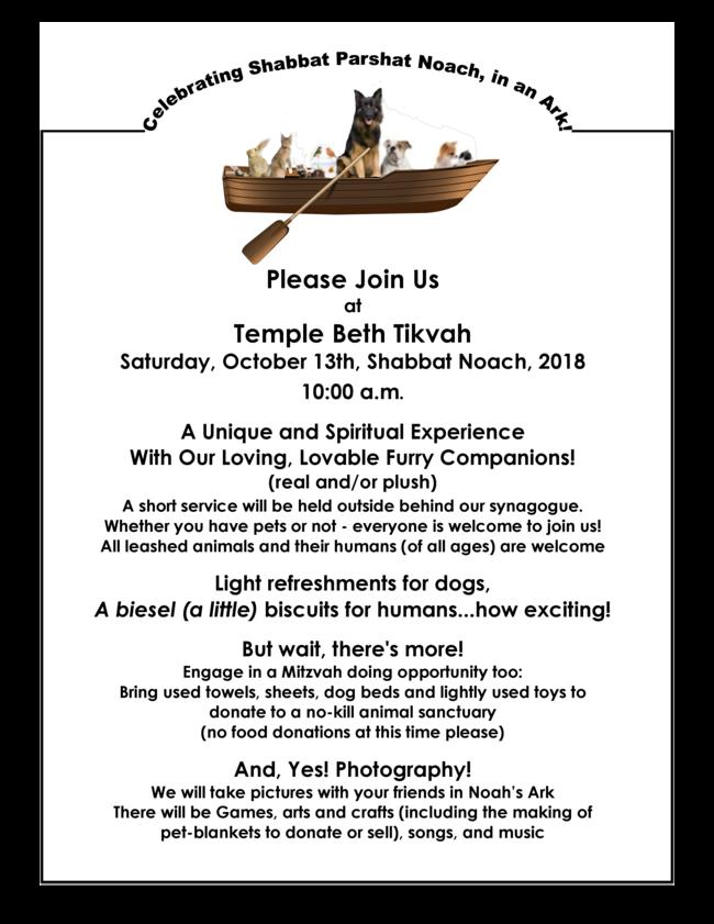 Paws Shabbat Noah_s Ark