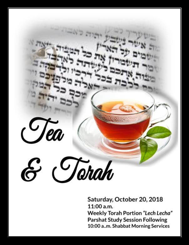 Tea _ Torah 10-20-18